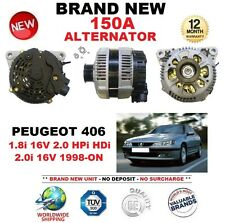 FOR PEUGEOT 406 1.8i 16V 2.0 HPi HDi 2.0i 16V 1998-ON BRAND NEW 150A ALTERNATOR