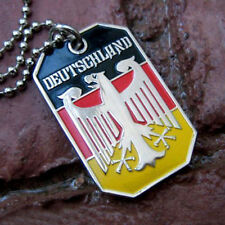 GERMANY EAGLE GERMAN FLAG DEUTSCHLAND BUNDESADLER PENDANT DOG TAG BALL CHAIN