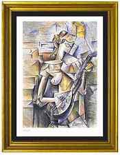 "Pablo Picasso Signed/Hand-Numbrd Ltd Ed ""Girl w Mandolin"" Litho Print (unframed)"
