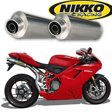 Paire de Silencieux Titane Nikko Racing Ducati 848 / 1098  Slip-On Exhaust