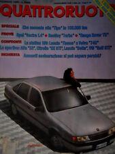 Quattroruote 400 1989 Prove Opel Vectra 1.4, Bentley Turbo, Range Rover TD [Q71]