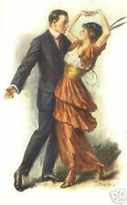 BALLROOM DANCE print waltz foxtrot tango vintage dancing art