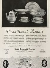 1926 Josiah Wedgwood Saxon Queensware Pattern Fifth Avenue New York Print Ad