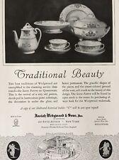 1926 Josiah Wedgwood Saxon Queensware Pattern Fifth Avenue New York Print Ad