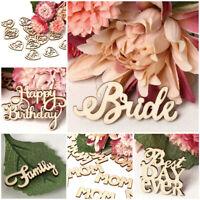 Party Ornament Wooden Birde Groom DIY Crafts Letters Wedding Decor