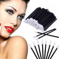 100Stk Einmal-Lip Pinsel Glanz-Applikator Lippenstift Makeup Tool Wimpern Pinsel