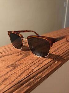 GUCCI GG0382S 005 Rectangular Havana Crystal Havana Blue 56 mm Men's Sunglasses