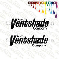 "2 of 8"" Auto Ventshade aftermarket car window bumper vinyl sticker decal die cut"