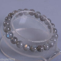 Genuine 10mm Natural Labradorite Round Gemstone Beads Stretchy Bracelet 7.5''AAA