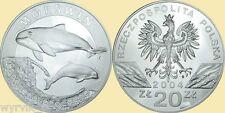 POLAND 2004 20zl PORPOISE phocoena phocoena UNC Morswin #S7.