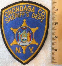 ONONDAGA COUNTY NEW YORK SHERIFF PATCH (SHERIFF, HIGHWAY PATROL, STATE POLICE)