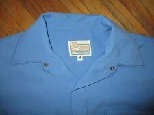 Vintage Años 70 Preferido Stock Poliéster Camisa Costura de Contraste Dos Tonos