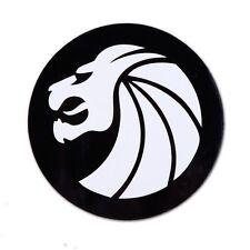 "SEVEN LIONS Sticker/Vinyl/Decal (3"" circular white on black) EDM Merch Dance"