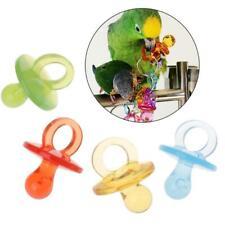 4pcs Parrot Toys Acrylic Nipple Bite Chew Colorful Birds Supplies DIY Accessory.
