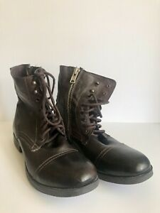 Steve Madden Mens Size 11 Dark Brown Lace Up Boots