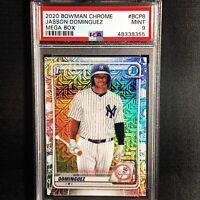 2020 Bowman Chrome Mega Box Jasson Dominguez Yankees RC Rookie PSA 9 MINT (A1)