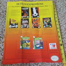 Nintendo NES Hi Tech Expressions 1988 Promo Poster / Insert... Fun House, etc