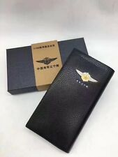 15's China PLA Navy Liaoning No. Aircraft Carrier Officer Genuine Leather Wallet