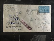 1945 USA Patriotic Camp Richie Md We Are Riding The Crest of The Wave Itaca Ny