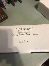"Shirley Temple 10"" Porcelain Doll ""Dimples"" Movie Classics  Danbury Mint"