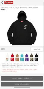 Supreme Swarovski S Logo Hoodie / L / Black