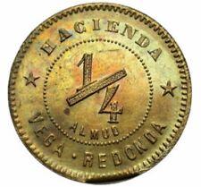 1 / 4 Almud HACIENDA Cafe VEGA REDONDA Las Marias Bucarabones PUERTO RICO 1890