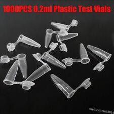 1000pcs 02ml Lab Plastic Test Vials Sample Micro Centrifuge Vial Snap Tube Cap