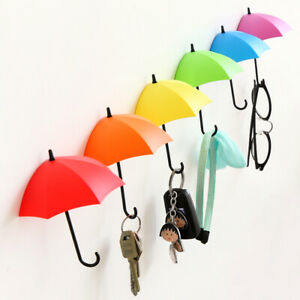 Key Hanger Holder Umbrella Shaped Rack Kitchen Bathroom Wall Decorative Holder