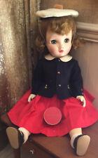 """Vintage Madame Alexander 24"""" Binnie Walker Doll Tagged Hat Box Gloves Original"""