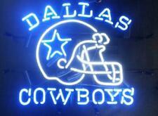 "New Dallas Cowboys Helmet Neon Light Lamp Sign 32""x24"" Beer Decor Glass Windows"