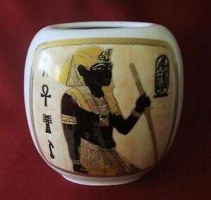 Tirschenreuth Bavaria - Vase H. 15 cm., Ägypten Pharaon, Gold Dekor