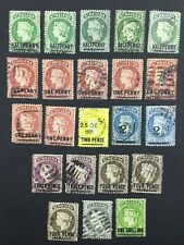 MOMEN: ST HELENA SG # 1884-94 CROWN CA CANCELS USED £210+ LOT #5139