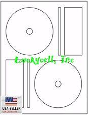 100 Full Face Memorex Compatible CD DVD Laser / Ink Jet Labels 50 sheet Label