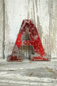 FANTASTIC VINTAGE STYLE METAL 3D RED A LETTER FONT SHOP SIGN WALL PLAQUE