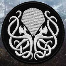 Cthulhu Lovecraft Motif Embroidered Iron on Patch Sew on Badge For Clothes etc