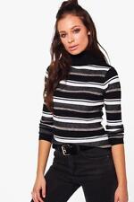 Gestreifte Damen-Pullover & -Strickware mit Stehkragen Normalgröße