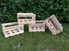 4 Stück Weinkisten NEU < Typ 5 < Holzkiste < Obstkiste < Kiste < inkl. Versand