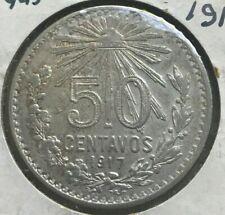 1917 Mexico 50 Centavos - Nice Silver