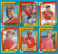REDS 1990 TOPPS TRADED TEAM SET 6 CARDS WORLD CHAMPS W/ MORRIS PINIELLA MYERS