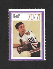 1970-71  ESSO POWER PLAY STAMP , CLIFF KOROLL , CHICAGO BLACK HAWKS