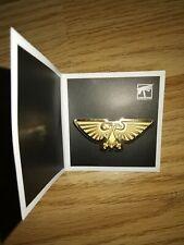 Warhammer 40,000 GOLD Imperial Eagle Adeptus Astartes Pin Badge