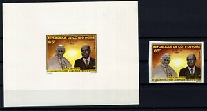 AE138772/ IVORY COAST / Y&T # 538 MNG / MNH DELUXE PROOF & IMPERF