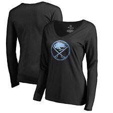 Buffalo Sabres Women's Pond Hockey Long Sleeve T-Shirt - Black