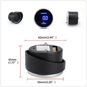 12/24V Digital Display Car Racing Oil Pressure Gauge Pres Meter Lens With Sensor