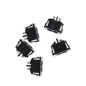 5Pcs AC250V 2.5A IEC320 C8 Maschio 2 pin Presa ingresso alimentazione Pannell Pq