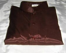 Silk Patternless Casual Shirts & Tops for Men