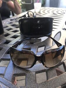 Gucci Sunglasses Brown Gold Horsebit Great Style Tortoise Case