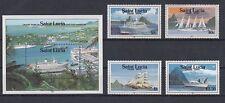 Schiffe  St. Lucia  986 - 89 + Block 59  ** (mnh)