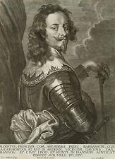 S. Bolswert (um 1581-1659), Fürsten Albert v. Aremberg nach van Dyck, Kupfer