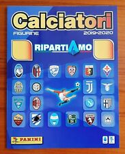 ALBUM PANINI RIPARTIAMO CALCIATORI 2019-2020 + SET COMPLETO 20 FIGURINE